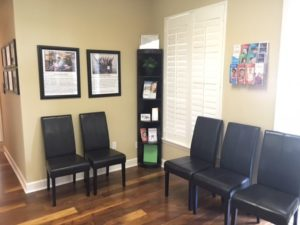 the waiting room at dr. dee's offices