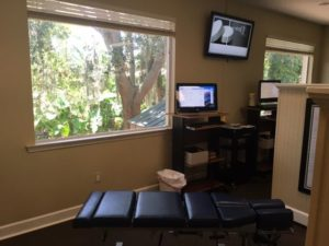 Dr. Dee's Office with Chiropractic table