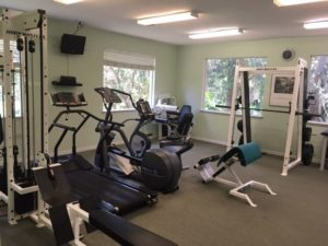 Office gym at Dr. Dee's in Sarasota