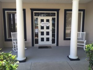 The front porch at Dr. Dee's Offices