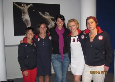 Dr Dees at London Olympics 2012 with members of US Women's Wrestling Team