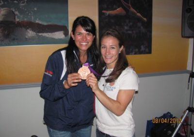 Dr. Dees with 2012 Olympic Women's Judo Bronze Medalist Marti Malloy