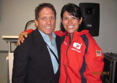 Dr. Dees at 2012 Olympics with Women's Wrestling Coach