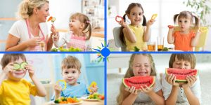 Choosing age appropriate servings and foods helps a healthy diet in the long run.